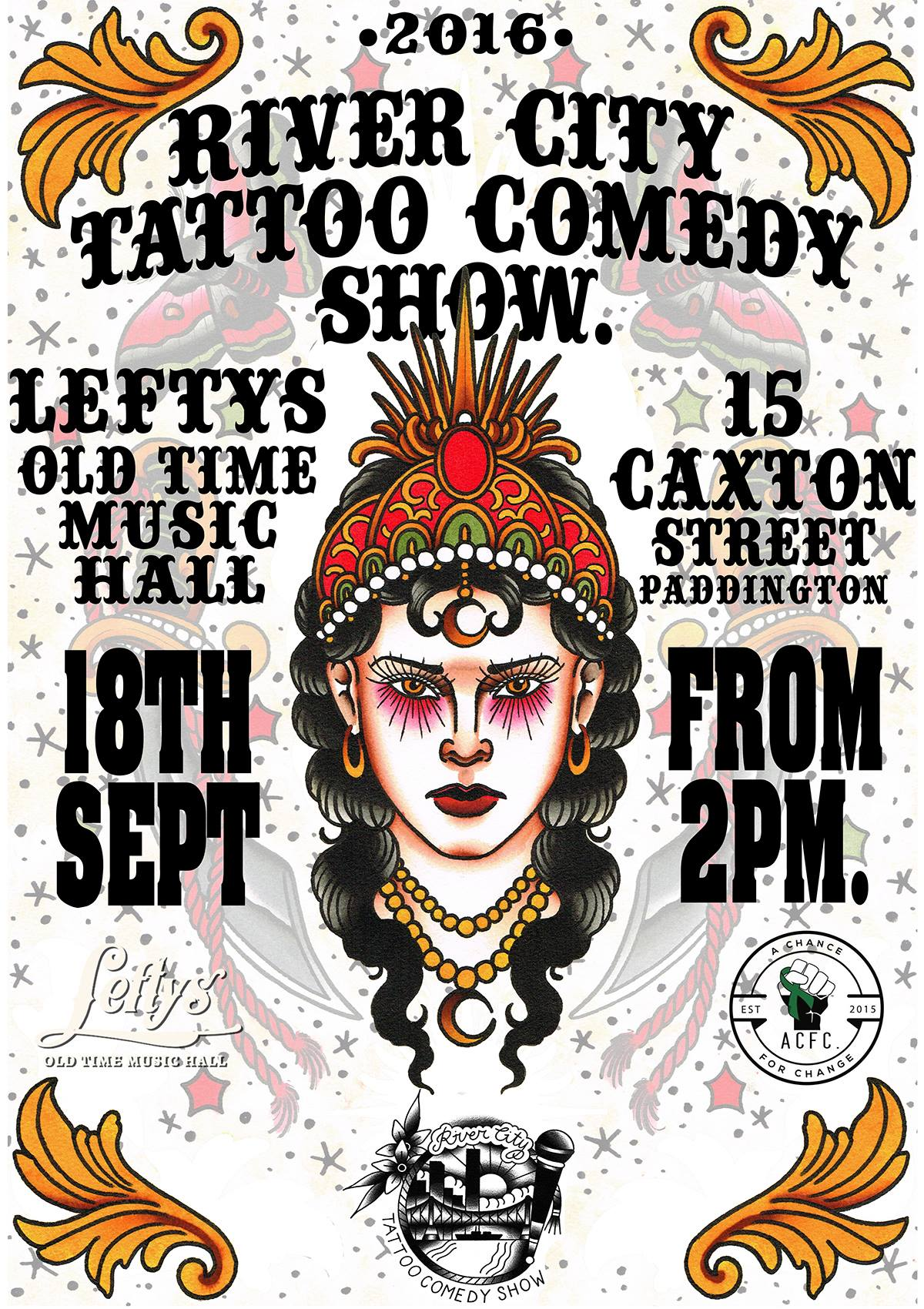 Upcoming Events | River City Tattoo Comedy Show | A Chance For Change
